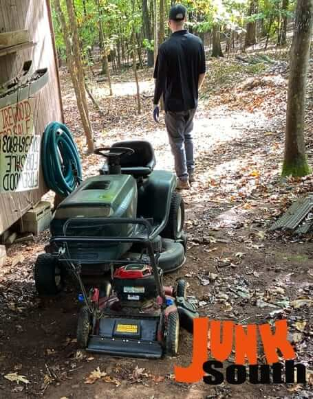Junk South removes riding lawn mower and other heavy equipment
